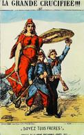 Soyez Tous Frères ! Cpa REPRODUCTION Maçonnique (Contexte Historique Commune De Paris 1871) Illustration - Geschichte