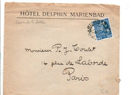 AUTRICHE BELLE LETTRE A EN TETE D'HOTEL DE MAREINBAD 1911 - 1850-1918 Imperium