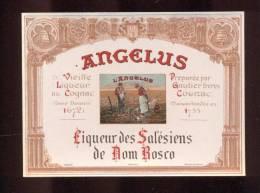 Etiquette De Liqueur  Des Salésiens De Dom Bosco Au Cognac  -  Angélus  -  Gautier Frères  Cognac  (16) - Labels