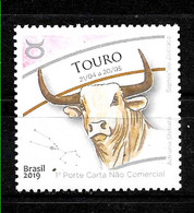 BRASIL,BRAZIL,BRESIL,2019 ZODIAC TAURO YV 3730 POSTFRISCH,NEUF MNH - Astrologia