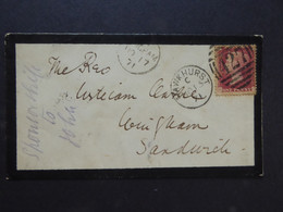 GREAT BRITAIN RED PENNY Corner Letters HG Postmarks Hawkhurst (427) NO 15 71 & SANDWICH & BURWASH - Usados