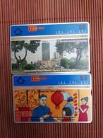 Landis & Gyr 2 Phonecards 304F+306D  5 $ Malaysia  Used  Rare - Malaysia