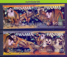 Ngb404s WWF FAUNA AAP APEN ZOOGDIEREN RED-BACKED SQUIRREL MONKEYS MAMMALS APES AFFEN SINGES PANAMA 2007 PF/MNH - Ungebraucht