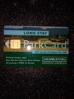 GB UK CARTE A PUCE CHIP CARD STATIONNEMENT PARKING HAMBLETON £50 NEUVE MINT - Ausstellungskarten