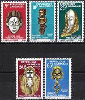 Gabon 1966 - Mi 238/42 - YT 187/97  ( Negro Arts Festival, Dakar ) MNH** - Complete Set - Gabun (1960-...)