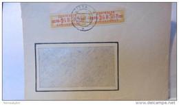 Dienst: Fern-Doppel-Brief  =M 248588/9= ZKD-Streifen Orangegelb/orangerot Aus Zittau Vom 12.6.58 Nach Dresden Knr:17M(2) - Service