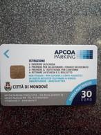ITALIE CARTE A PUCE CHIP CARD STATIONNEMENT PARKING MONDOVI 30€ NEUVE MINT - Ausstellungskarten
