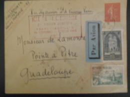 France, Lettre De Lyon 1935 Pour  La Guadeloupe - France