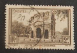 """FRANCE YT 389 CACHET ROND """"ARC DE TRIOMPHE D ORANGE"""" ANNÉE 1938 - France"""