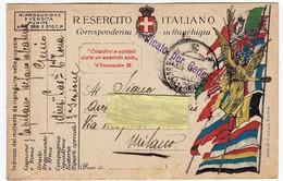 MILITARI - R. ESERCITO ITALIANO - GENIO - CORRISPONDENZA IN FRANCHIGIA - 1918 - War 1914-18