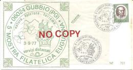 Gubbio 3.9.1977, 5a Mostra Filatelica Eugubina. - 1971-80: Marcophilia