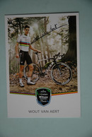 CYCLISME: CYCLISTE : WOUT VAN AERT Autographe - Cyclisme