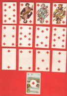 Carte Da Gioco 1887 - 52 Playing Cards Cartes à Jouer Cartas Papiers XIX Sec 52 German Cards - Kartenspiele (traditionell)