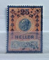 AUSTRIA  - MARCA DA BOLLO - STEMPEL MARKE  25 H. 1910 - Fiscales