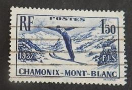 """FRANCE YT 334 OBLITÉRÉ """"SKI A CHAMONIX"""" ANNÉE 1937 - France"""