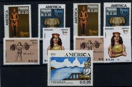 Panamá Nº 1060/61, 1071/2, 1077. Año 1989/91 - Panama