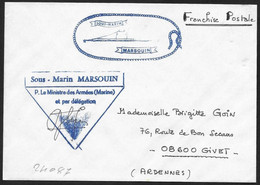 Francia/France: Franchigia, Exemption, Franchise, Sottomarino Marsouin, Marsouin Submarine, Sous-marin Marsouin - U-Boote