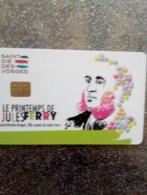 FRANCE CARTE A PUCE CHIP CARD STATIONNEMENT SAINT DIE JULES FERRY NEUVE MINT - PIAF Parking Cards