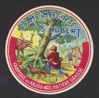 Etiquette De Fromage Camembert  -  Saint Hubert  -   (Laiterie De Grez Neuville)  (49I) - Käse
