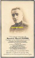 Jacobs Marcel - Capitaine En 1er D'administration (Ixelles 1890 / Ghlin 1941 - Esquela