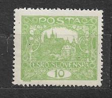 Czechoslovakia 1920 MNH ** Mi 25 C Sc 43a Hradschin Gezähnt 13 ¾ .Hradcany At Prague. Tschechoslowake C5 - Czechoslovakia