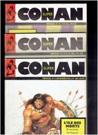 SUPER CONAN LOT 3 NUMEROS 4. 8 ET 21 MON JOURNAL UNE PUBLICATION MARVEL - Conan