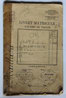 Livret Matricule Homme De Troupe Maillard Marcel 503ème RCC Chars Combats Pointel La Bourdonnière Briouze La Carneille - Documents