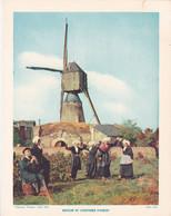 Chromo : Image Pédagogique : Région : Les Pays  De La LOIRE : Moulin Et Costumes D'ANJOU : Folklore : - Altri