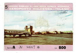 Ref 1409 - Aeroporto Mapensa Milano Italy - Ticket? Boarding Pass? Exit / Entry Tax? - Tickets - Vouchers