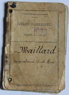 Livret Individuel Maillard Marcel 503ème RCC Chars Combats 17ème Régiment Dragons Pointel La Bourdonnière La Carneille - 1939-45