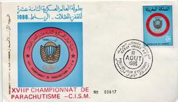 Morocco Stamp On FDC - Fallschirmspringen