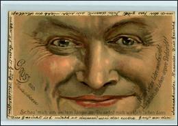 Y4558/ Gesicht  Gruss Litho AK 1898 - Altri
