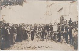 AIGRE  COURSE DE BICYCLETTE PARCOURS 100 KMS ( CARTE PHOTO ) - Sonstige Gemeinden
