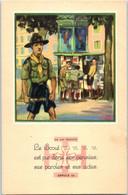 SCOUT - La Loi Scout - Le Scout Est Pur Dans Ses Pensées , Ses Paroles    Article 10  - Illustrateur Paul Coza - Scouting