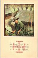 SCOUT - La Loi Scout - Le Scout Sourit Et Chante Dans Les Difficultés    Article 8  - Illustrateur Paul Coza - Scouting