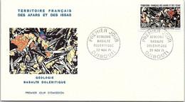TERRITOIRE FRANCAIS AFARS ET ISSAS - CACHET 1er JOUR GEOLOGIE BASALTE DOLERITIQUE 22.11.71 DJIBOUTI   /1 - Briefe U. Dokumente