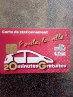 CARTE STATIONNEMENT CHIP CARD RIOM 20 MIN GRATUITES NEUVE - PIAF Parking Cards