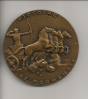 Militaria Médaille,Victoire De Normandie1944,Vire,Ste Mère E.Arromanches,Barneville,Valognes,Caen,Cherbourg,St Lô,.... - Francia