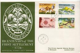 Seychelles Set On FDC - Seychelles (...-1976)