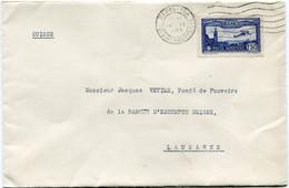 FRANCE LETTRE DEPART PARIS 14 VI 1933 Bd HAUSSMANN POUR LA SUISSE - Brieven En Documenten
