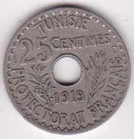 TUNISIE. PROTECTORAT FRANCAIS. 25 CENTIMES 1919 - Tunisie