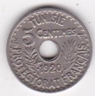 TUNISIE. PROTECTORAT FRANCAIS. 5 CENTIMES 1920 ,petit Modul - Tunisie