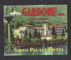 étiquette Valise  -  Hôtel Savoy  à Gardonne Riviera    Italie - Hotel Labels
