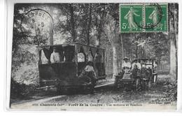 CPA  ROYAN 17 : Forêt De La Coubre - Rencontre Au Barachois   1912  Cliché BR - Royan