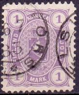 Finland 1875-84 1mk Violet Wapentype M/75 Perf 12½ GB-USED - 1856-1917 Russische Verwaltung