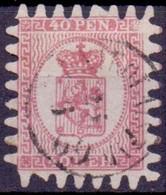 Finland 1866-67 40 Penni Wapentype M/60 GB-USED - Gebraucht