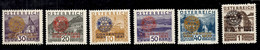 Autriche YT N° 398A/398F Neufs *. B/TB. A Saisir! - Unused Stamps