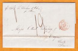 1840 - Enveloppe Pliée De New York, USA Par Navire MDuchesse D'Orléans Vers Cognac, France Via Le Havre - …-1845 Vorphilatelie
