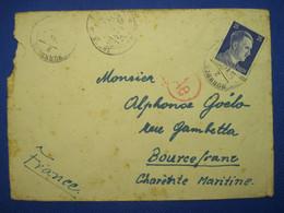 Allemagne France 1944 Nurnberg LAGER Censure Ae Enveloppe Cover Reich STO Nuremberg Bourcefranc - Guerra De 1939-45