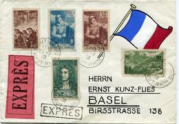 FRANCE LETTRE EXPRES DEPART SAINT-LOUIS 20-7-38 HAUT-RHIN POUR LA SUISSE - France